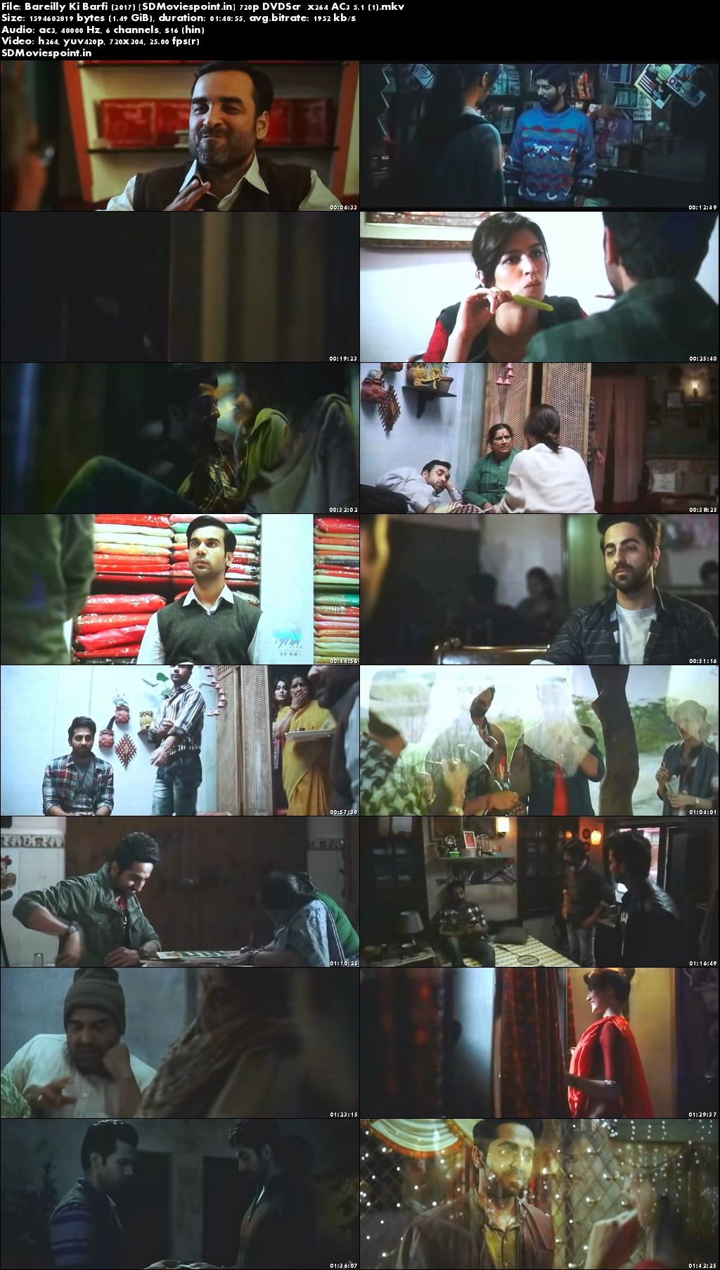 Screen Shots Bareilly Ki Barfi (2017) Full HD Movie Download Hindi Free 720p