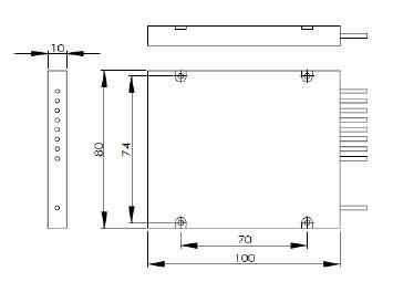 ABS cassette dimension of 1x8 PLC splitter