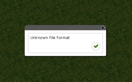 Image 5 Displaying The Error Message Indicating Unknown File Format for FlightToAtlantis.net: RCT3 FAQ: Using RCT3's Legacy Tracks Converter