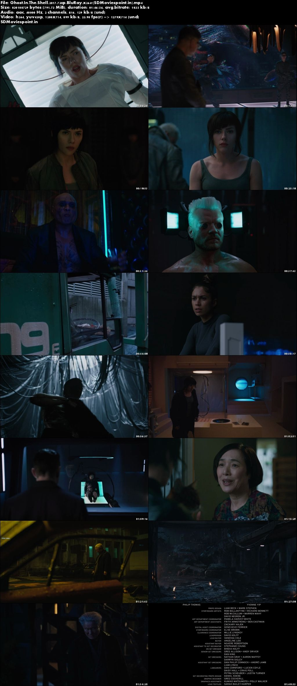 Screen Shot Ghost in the Shell (2017) Full HD Movie Download 720p