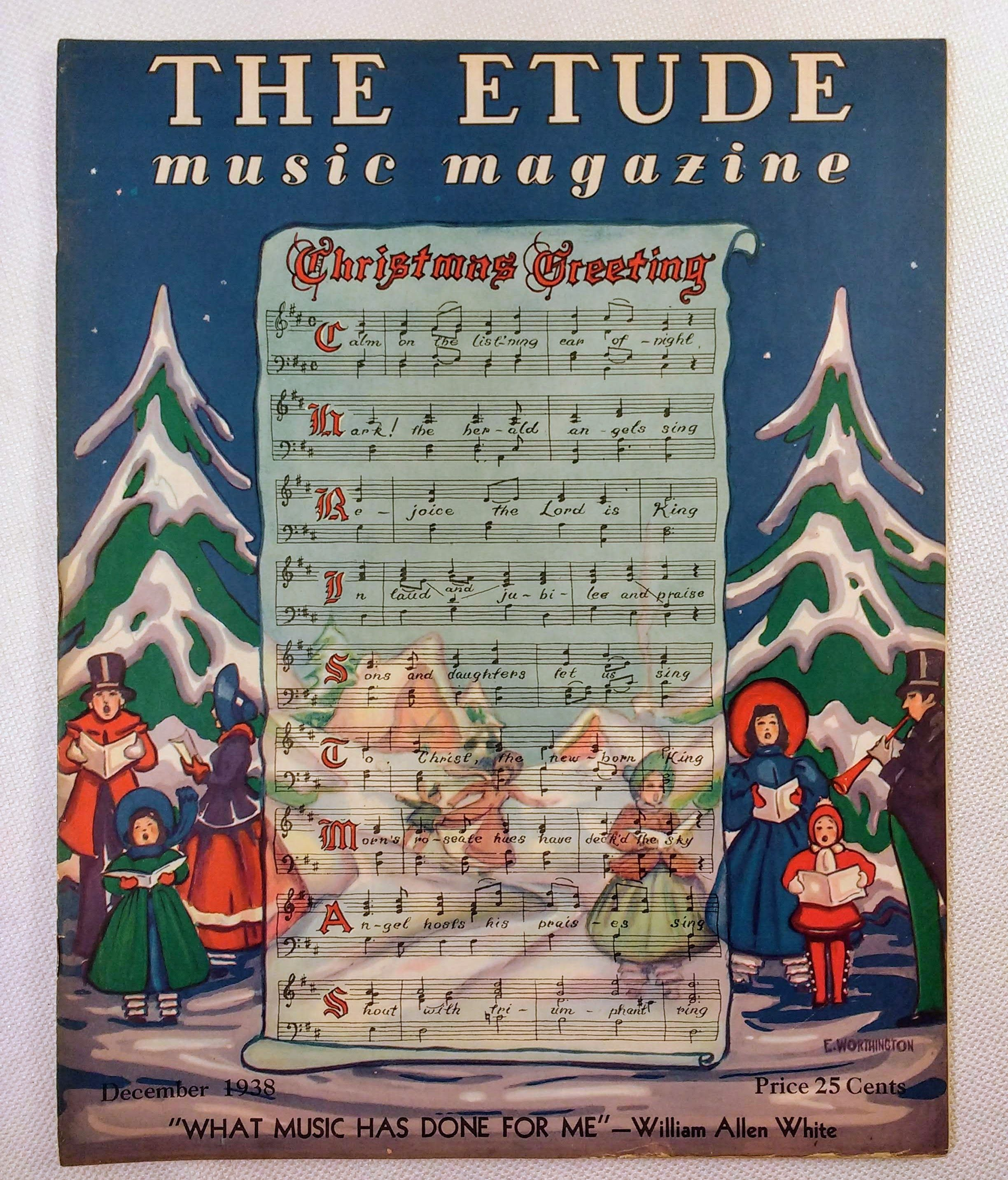 Image for The Etude Music Magazine: Volume LVI, No. 12; December, 1938