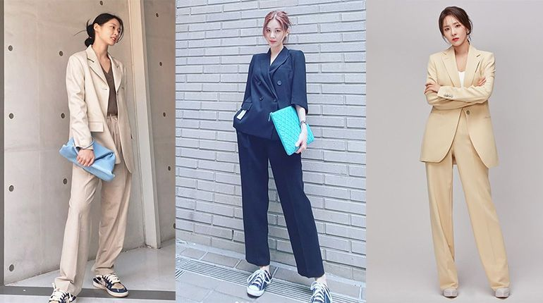 16 Korean Celebrities Who Nailed the Pantsuit Look