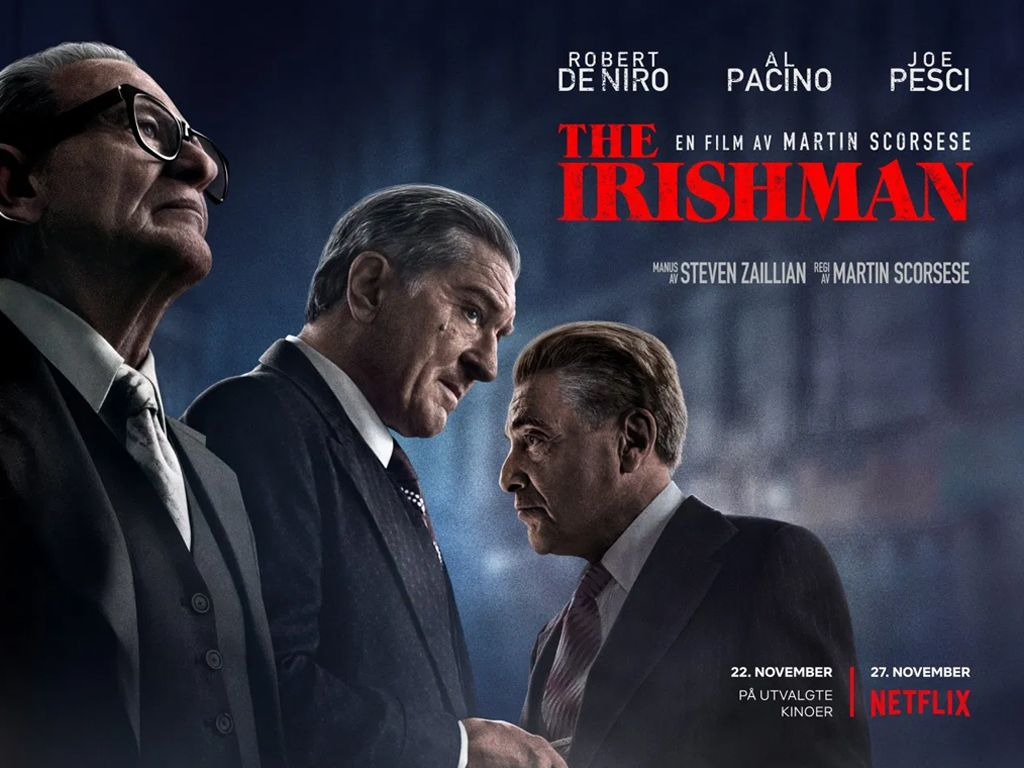 Ο Ιρλανδός (The Irishman) Quad Poster