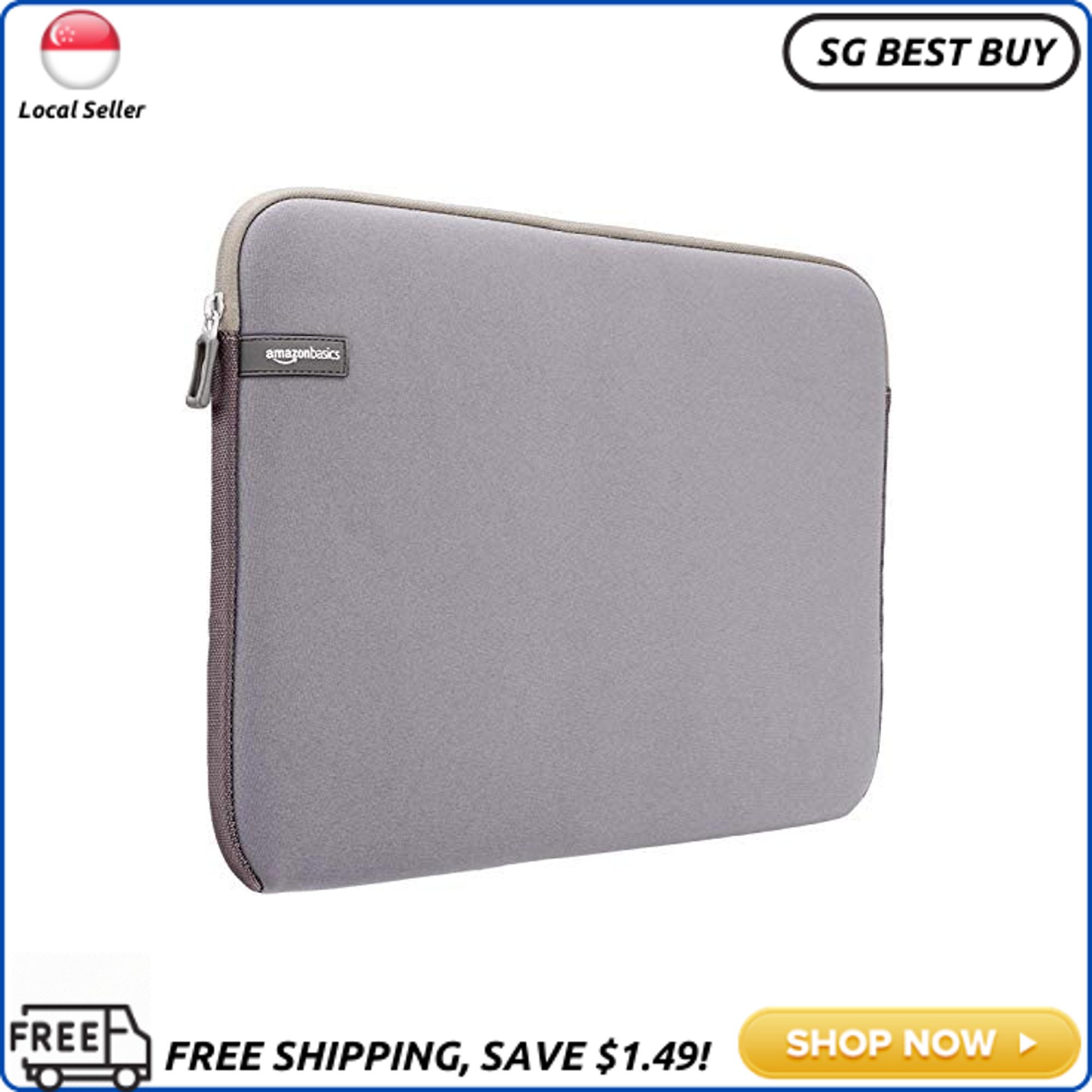 (SG SELLER - PACK OF 2) AmazonBasics 15 to 15.6 Laptop Sleeve, Grey
