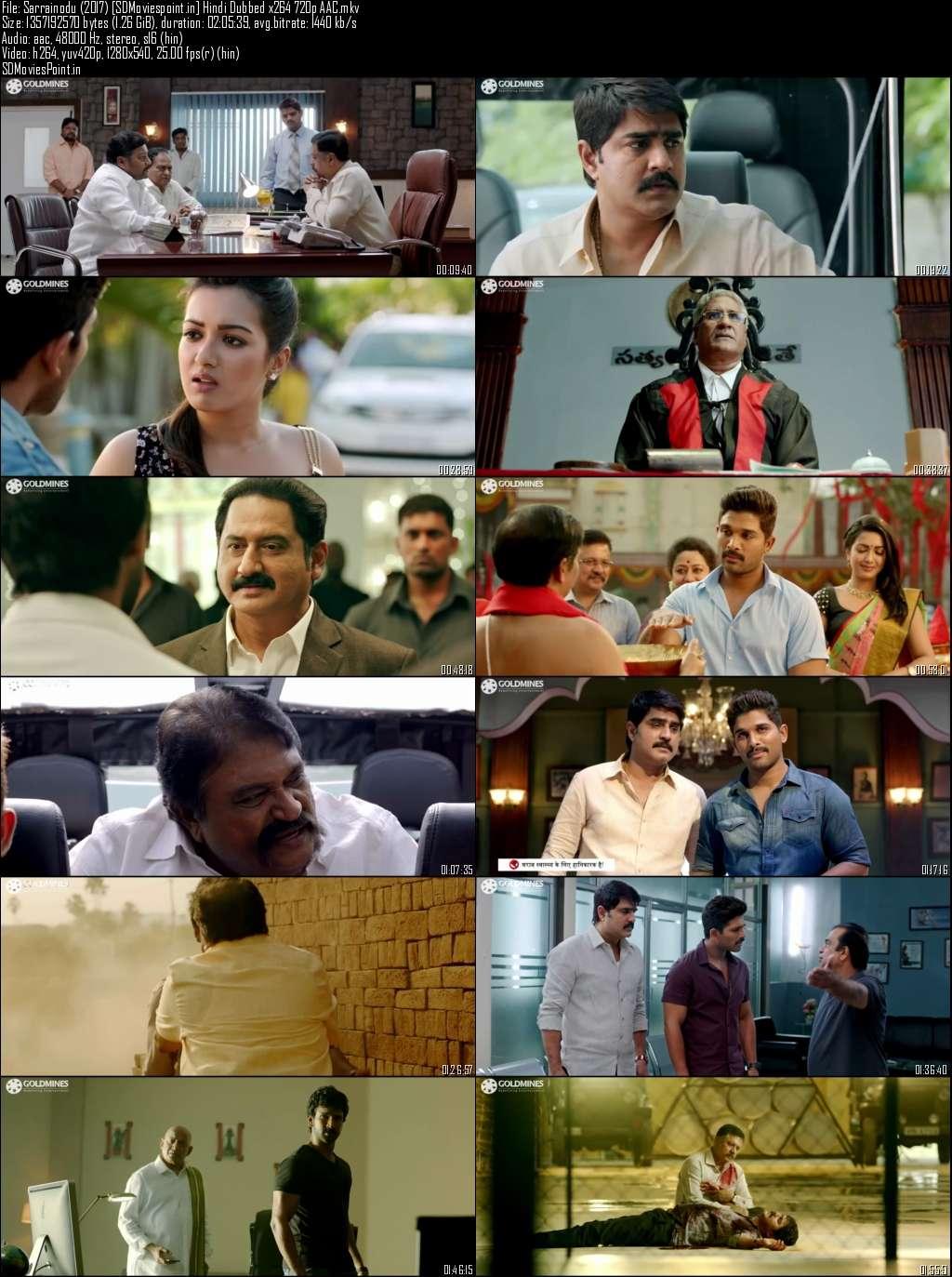 Poster Sarrainodu (2017) Full Movie Download In Hindi Dubbed