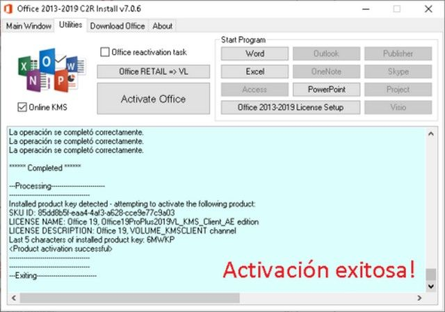 Microsoft Office 2019 Pro 2021 activador