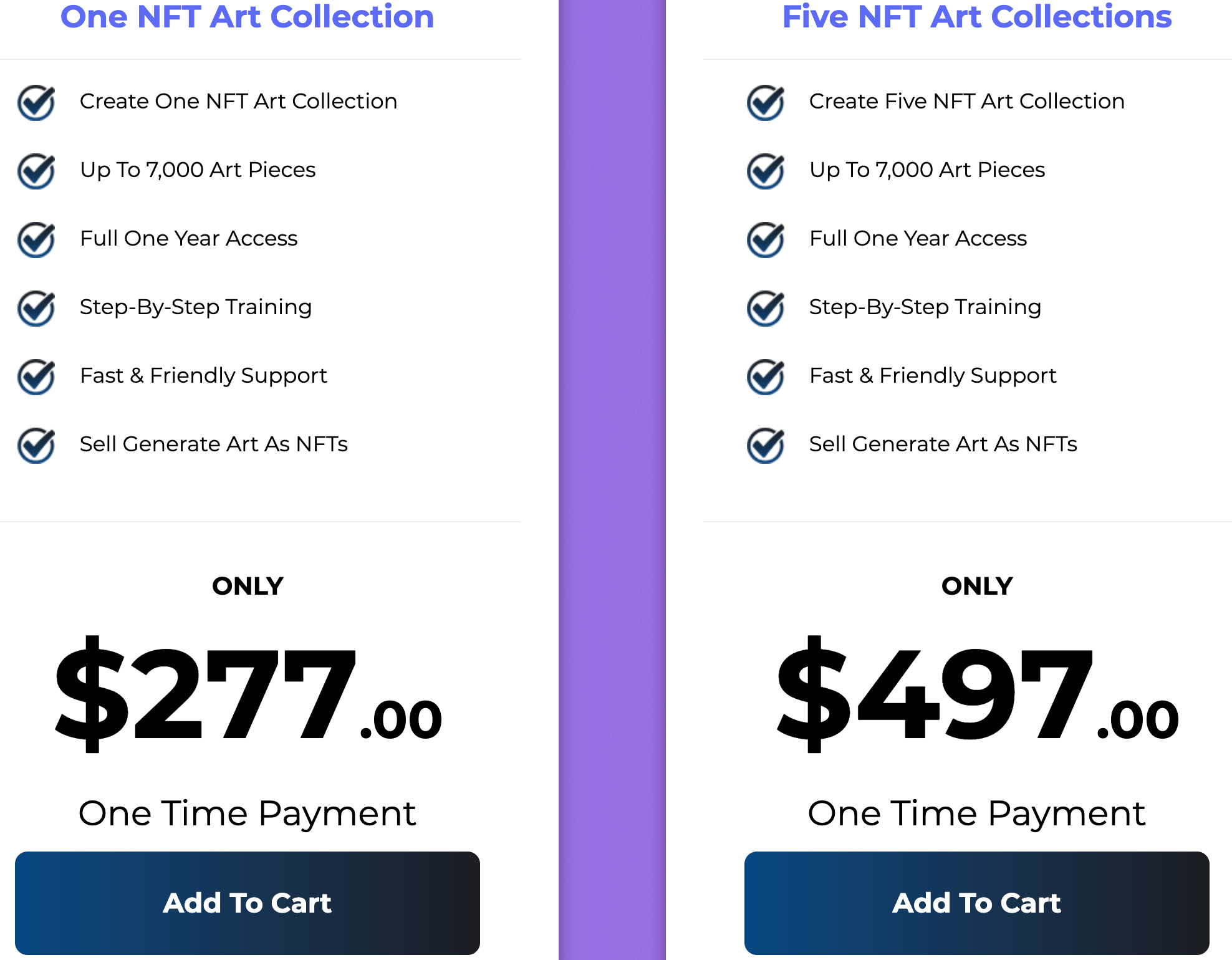 NFT Collection Maker Review: Pricing & Upsells