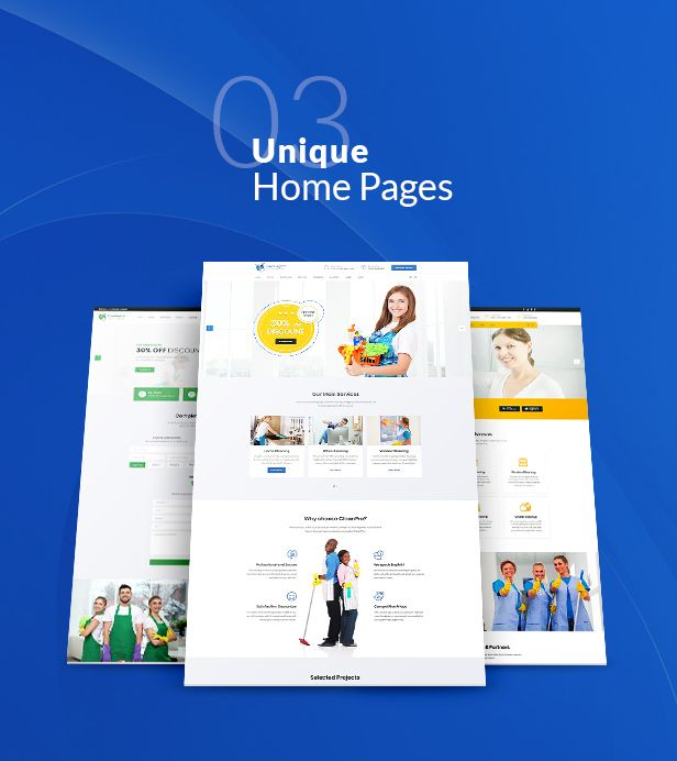 CleanPro - Cleaning Service PSD Template - 3