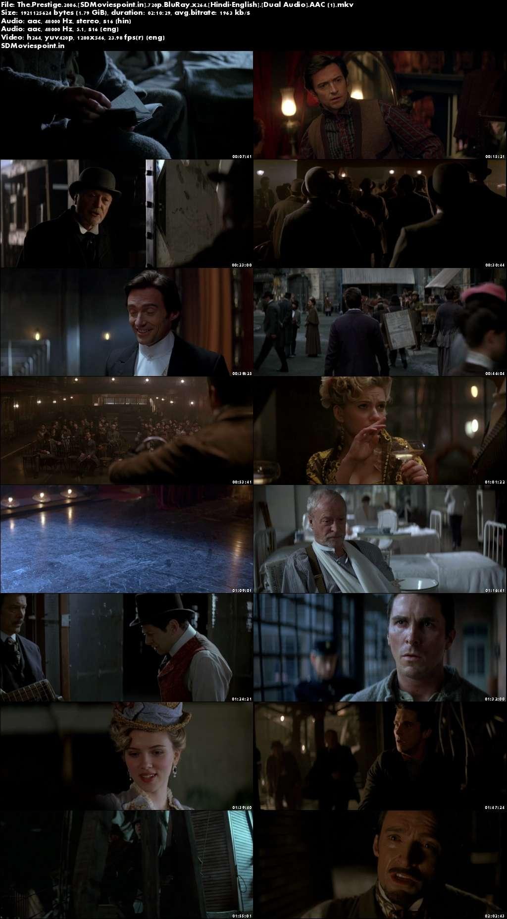 Poster The Prestige (2006) Full Movie 720p Dual Audio In Hindi Download