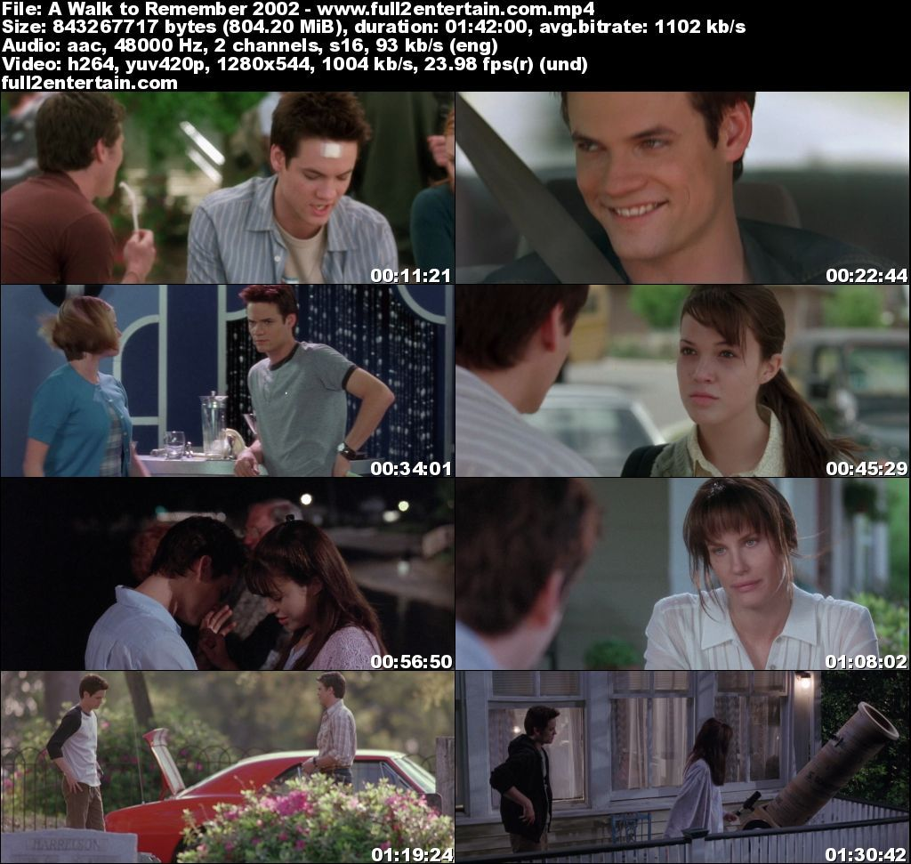 A Walk to Remember 2002 Full Movie Free Download HD 800mb