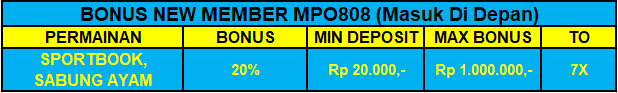 Bonus New Member Sportbook | MPO808