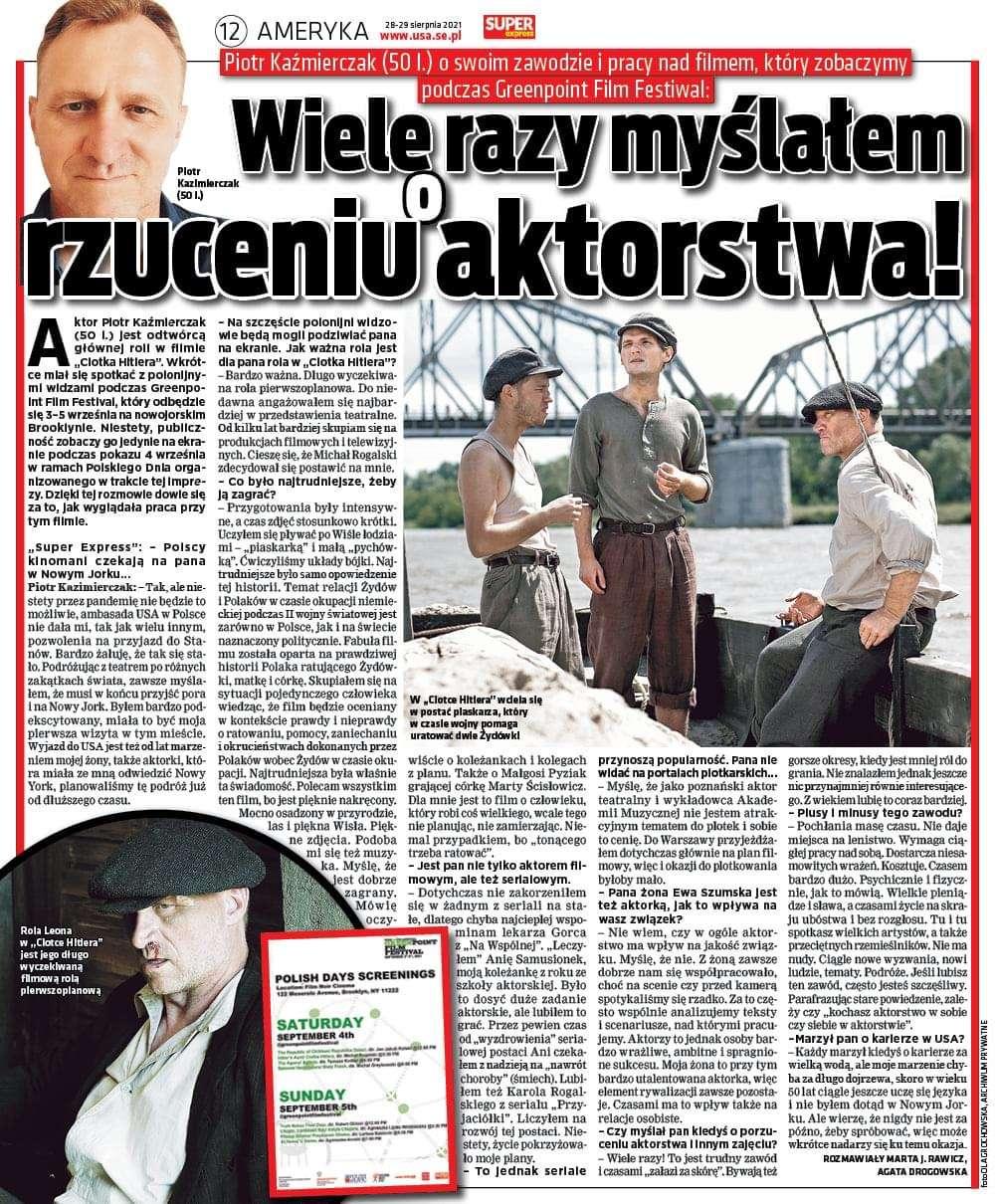 Piotr Kaźmierczak oswoim zawodzie…