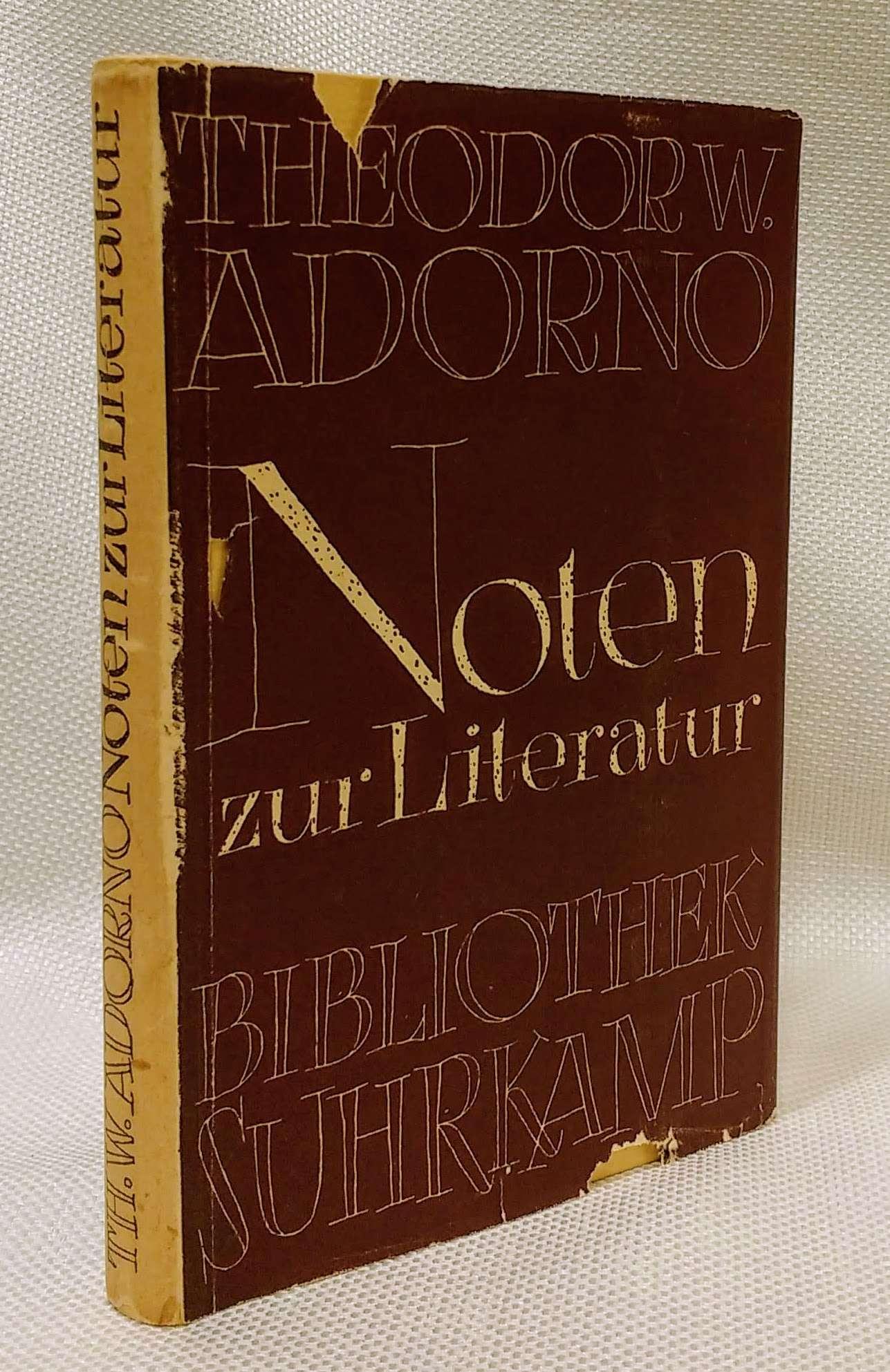 Noten zur Literatur, Adorno, Theodor