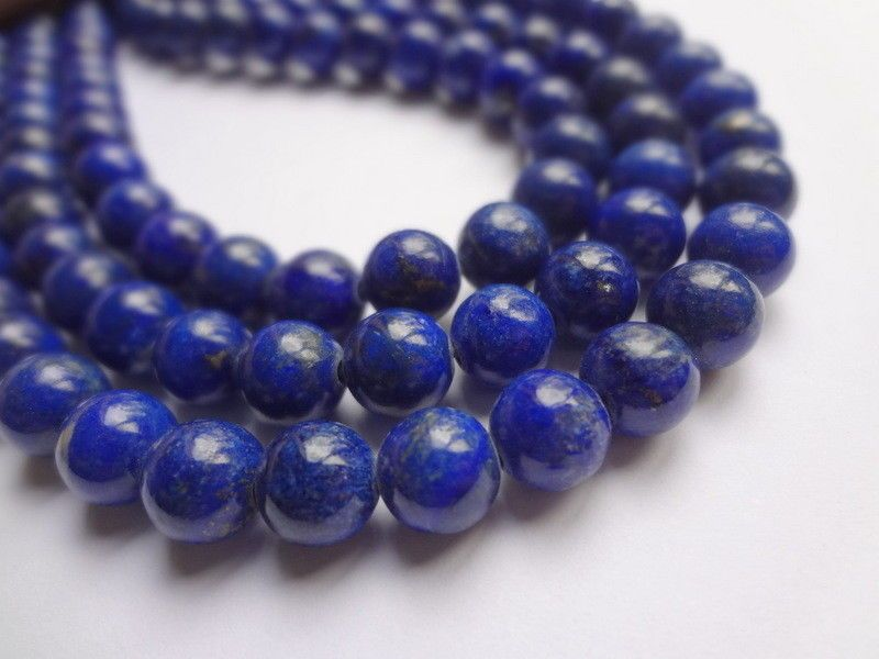 8mm Oz Seller 48 pcs Free postage Natural Lapis Lazuli with Inclusions