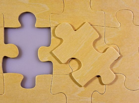 Puzzle piece missing from puzzle