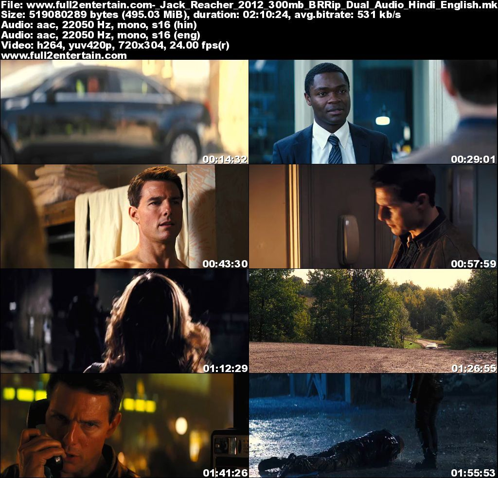 Jack Reacher (2012) Full Movie Free Download HD 300mb
