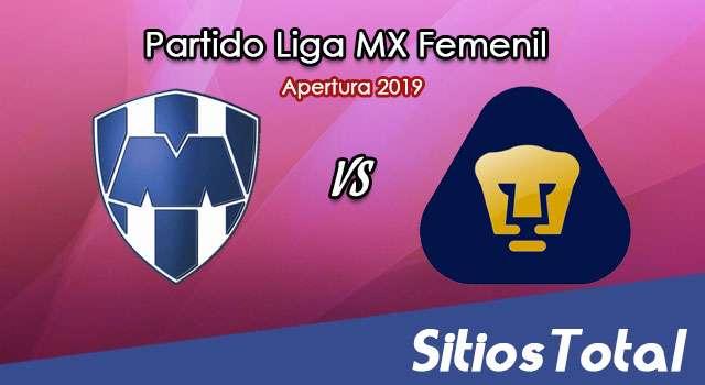 Ver Monterrey vs Pumas en Vivo – Liga MX Femenil – Apertura 2019 – Lunes 11 de Noviembre del 2019