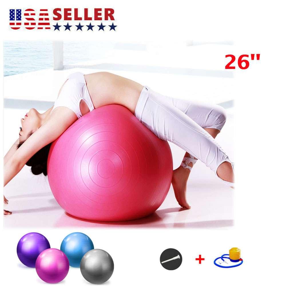 Exercise Ball Gym Yoga Fitness Anti-burst Leg Workout Balance Trainer W//Air Pump