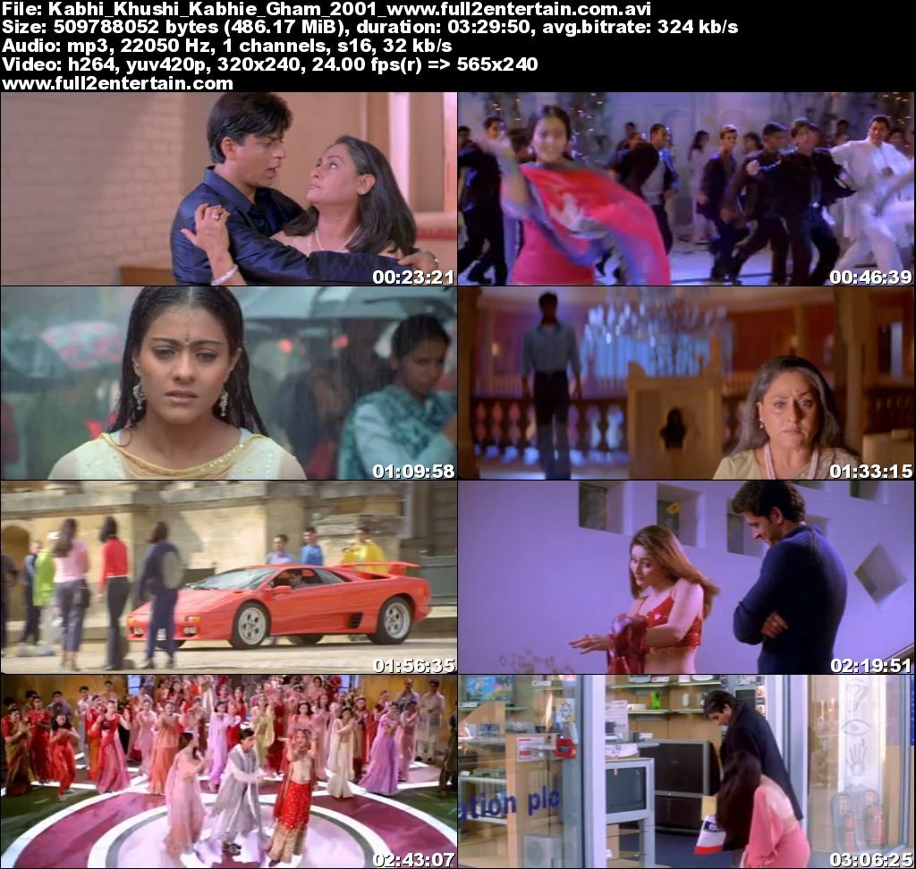 Kabhi Khushi Kabhie Gham 2001 Full Movie Download Free in Dvdrip 480p
