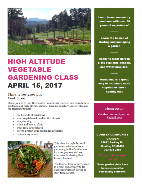 Pinecam com • View topic - High altitude vegetable gardening class