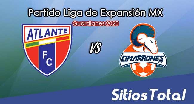 Atlante vs Cimarrones de Sonora en Vivo – Liga de Expansión MX – Guardianes 2020 – Miércoles 16 de Septiembre del 2020