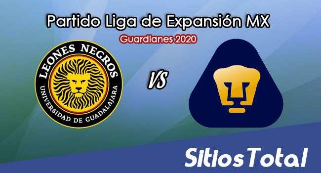 Leones Negros vs Pumas Tabasco en Vivo – Liga de Expansión MX – Guardianes 2020 – Domingo 27 de Septiembre del 2020