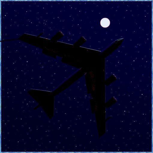 -52 overfly in stary night