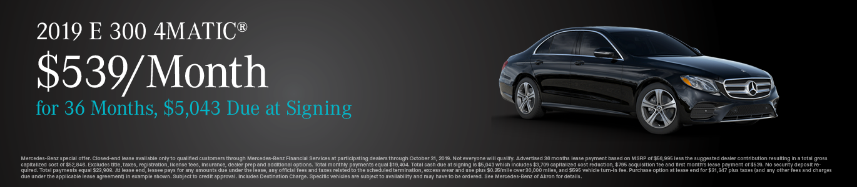 New Mercedes-Benz E-Class Sedan in Akron | Mercedes-Benz ...