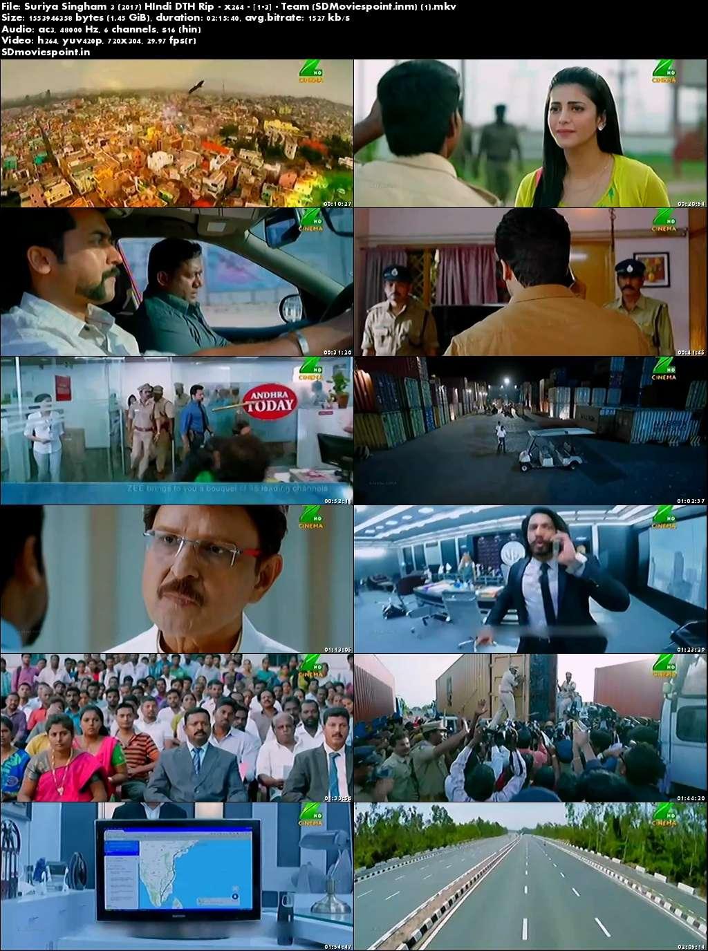 Screen Shots Singam 3 (2017) Full Hindi Dubbed Movie Download HD 720p
