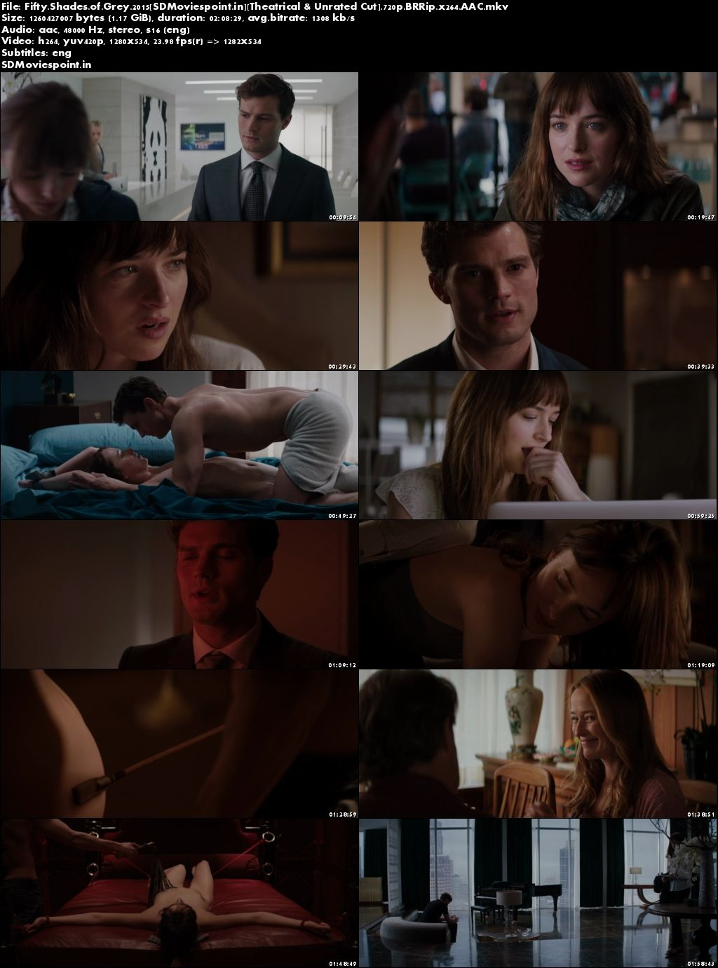 Screen Shots Fifty Shades of Grey (2015) Full HD Movie Download 720p