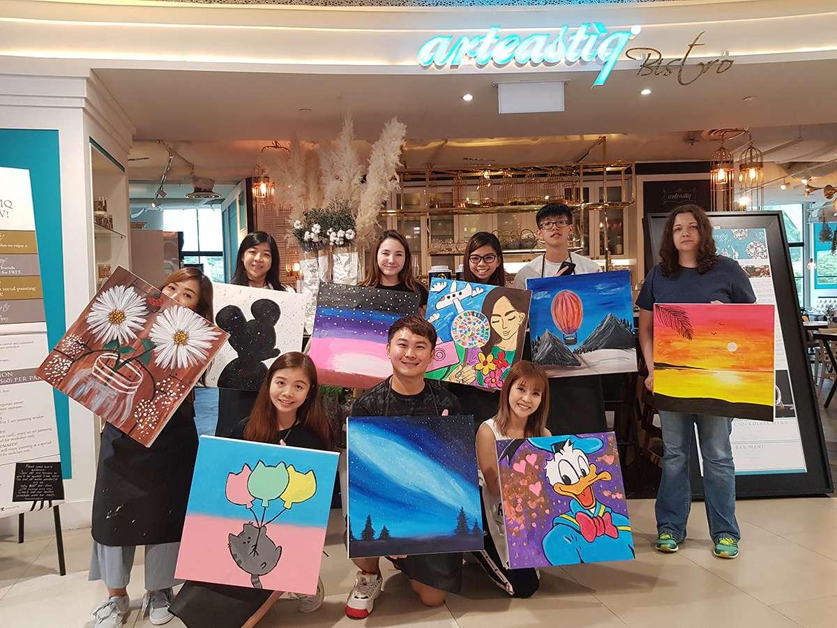 Art Jamming Singapore Arteastiq Team Bonding Ideas