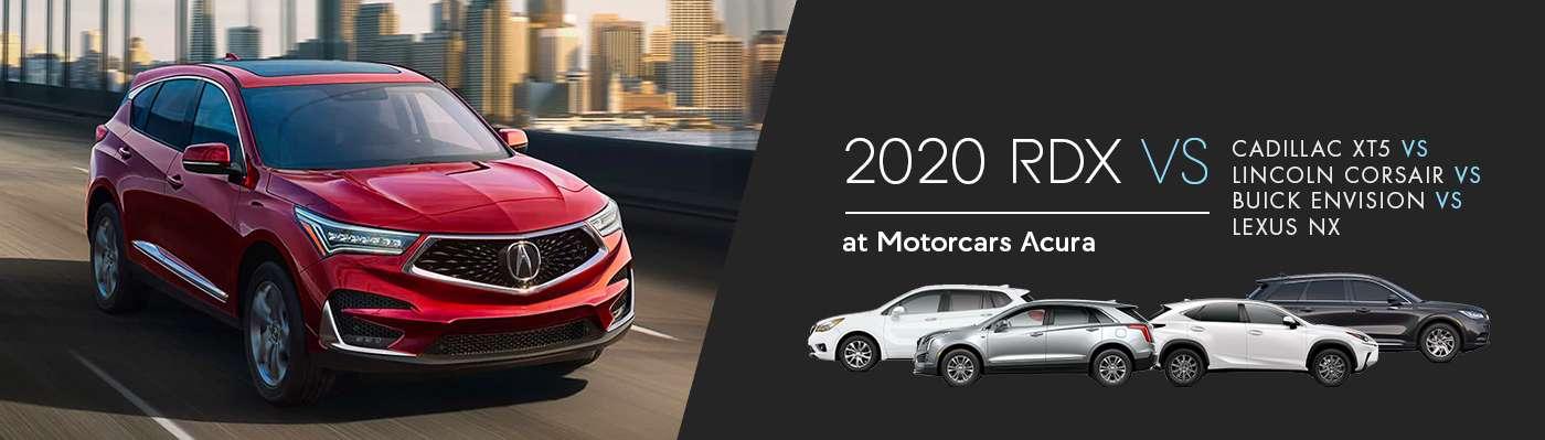 2020 Acura RDX vs. Cadillac XT5 vs Lincoln Corsair vs Buick Envision vs Lexus NX