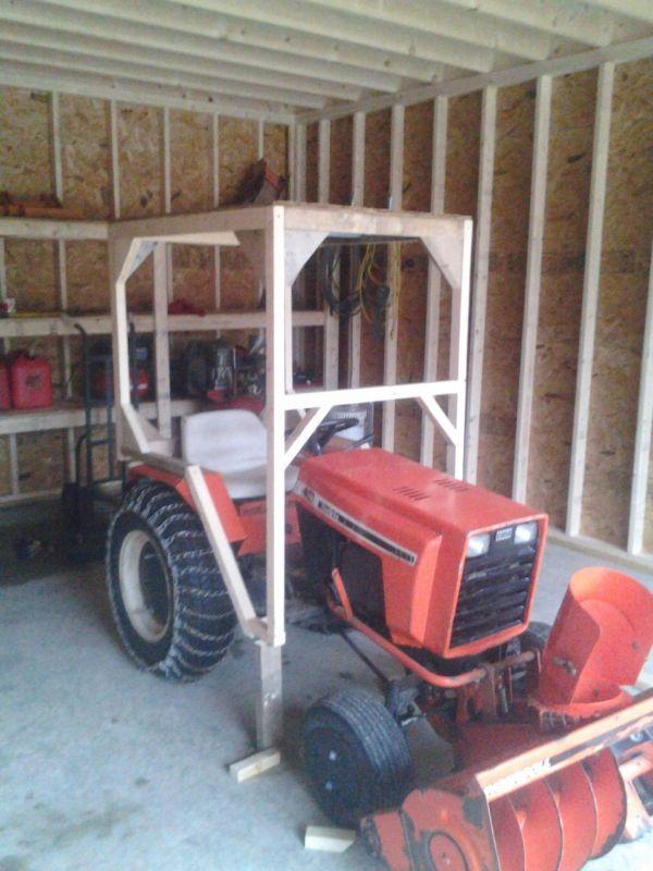wooden cab – Garden Tractor Cab Plans
