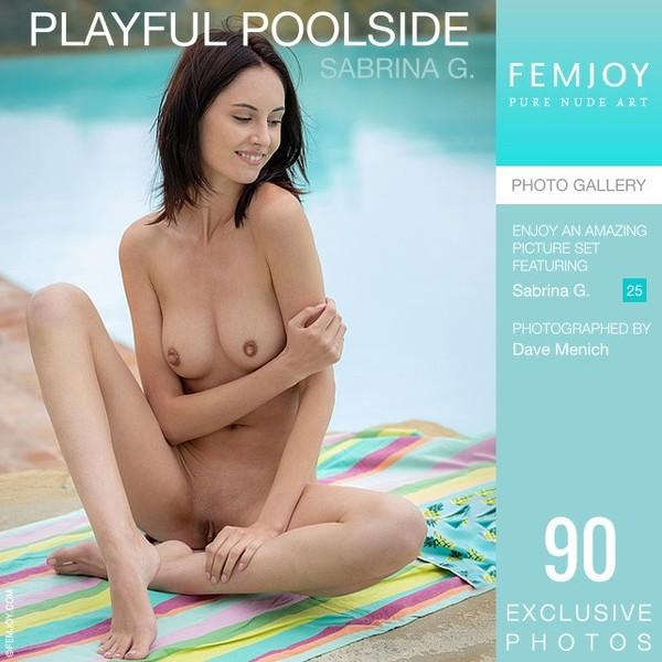 Fem Joy - 2019-09-19 - Sabrina G. - Playful Poolside - By Dave Menich 90 3334X5000
