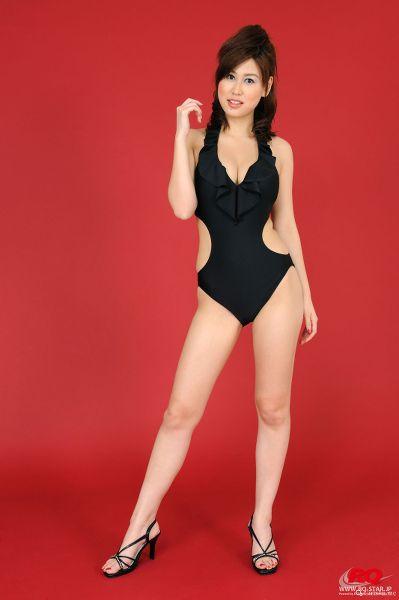 RQ-STAR NO.0043 Airi Nagasaku 永作あいり Swim Suits – Black