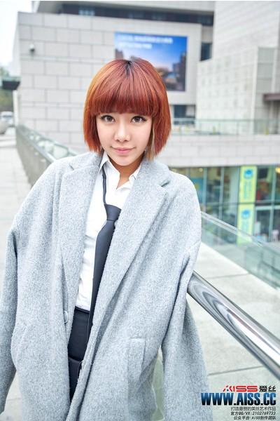 AISS爱丝 2016.05.04 钻石版 F6015 萱萱去逛街 [51P-422M]