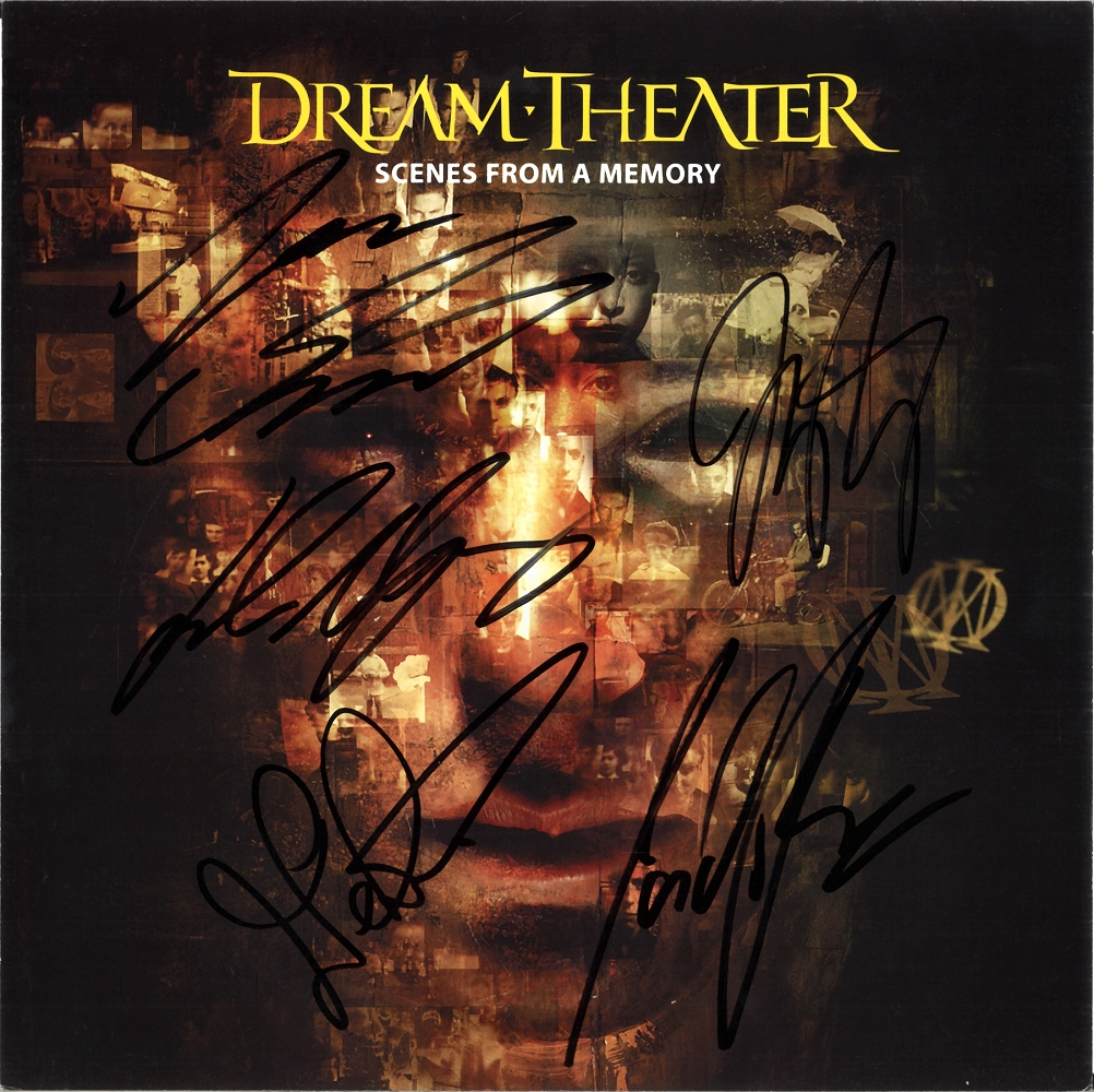 Dream Theater Scenes From A Memory Fully Signed 12 Flat Pull Me Under Autograph Ebay