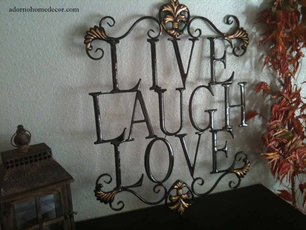 Live Laugh Love Wall Art Inspirational Quote Home Decor ...  Live Laugh Love Wall Decor