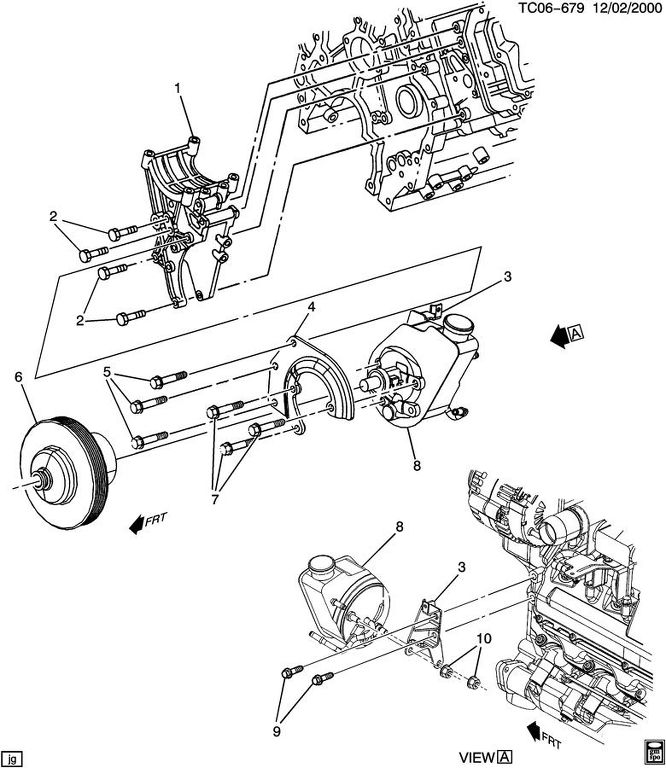 Chevy Power Steering Pump Diagram Car Tuning