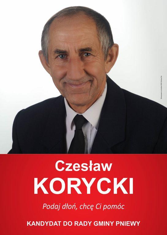 Czesław Korycki kandydatem dorady gminy Pniewy