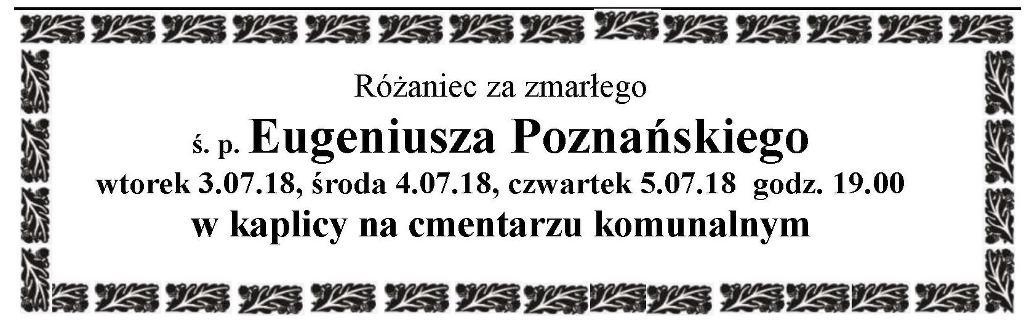 Żyli wśród nas – Eugeniusz Poznański