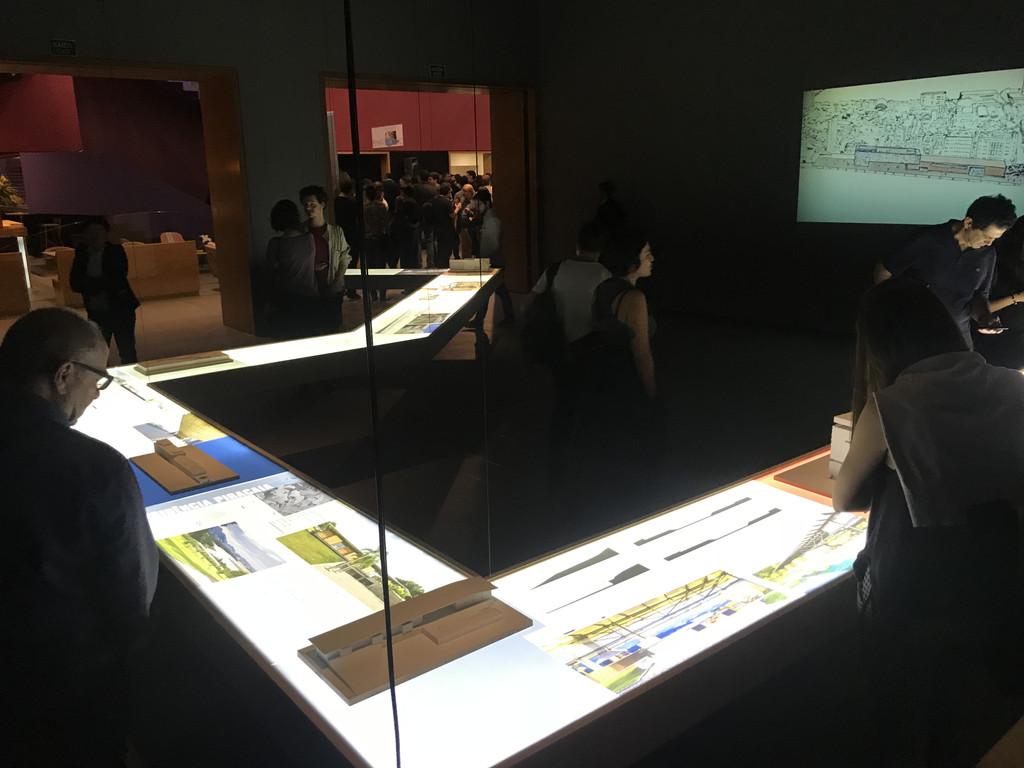 Detalhe da exposição no Instituto Tomie Ohatke