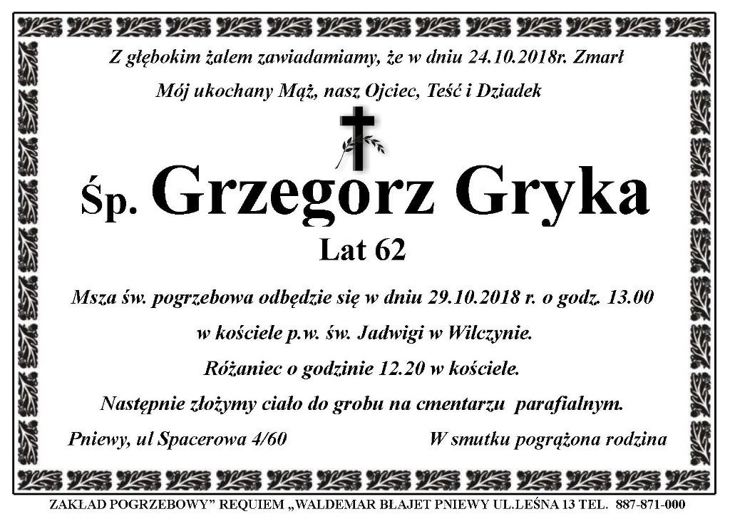 Żyli wśród nas – Grzegorz Gryka