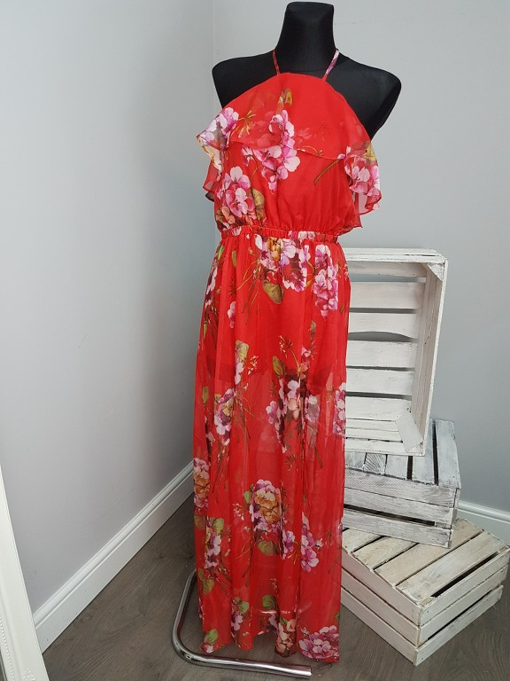 Maxi Jurk Met Tekst.Pretty Little Thing Floral Printed Maxi Dress 135 Ebay