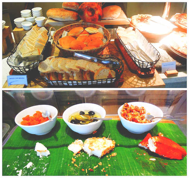 Costa Pacifica The Beach House Breakfast Bread and cheese station