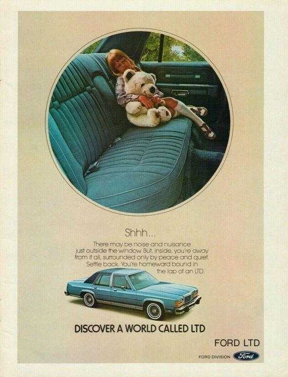 1981 Ford Ltd Blue Car Interior Vintage Color Photo Print Ad