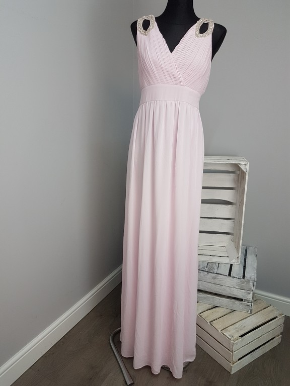 Maxi Jurk Met Tekst.Tfnc Tall Wedding Wrap Front Maxi Dress With Embellishment 154 Ebay