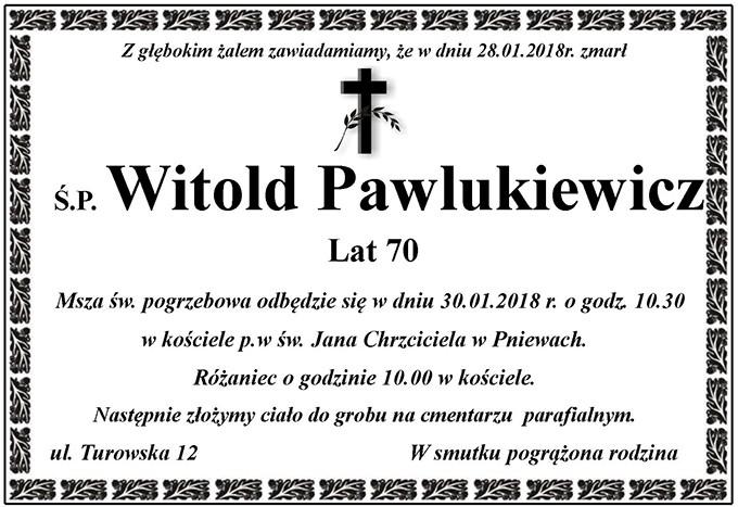 Żyli wśród nas – Witold Pawlukiewicz