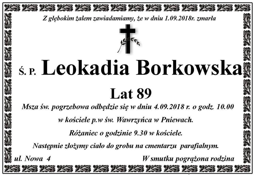Żyli wśród nas – Leokadia Borkowska