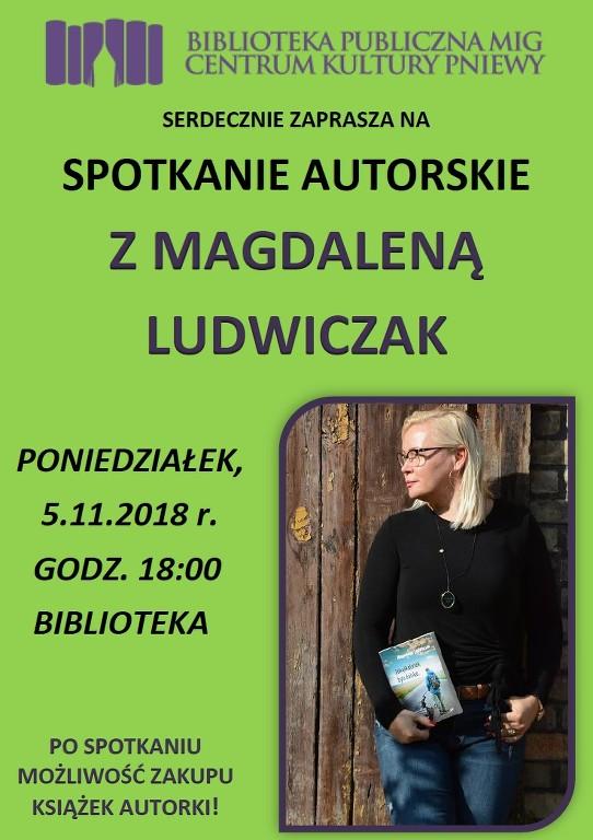 Spotkanie autorskie zMagdaleną Ludwiczak
